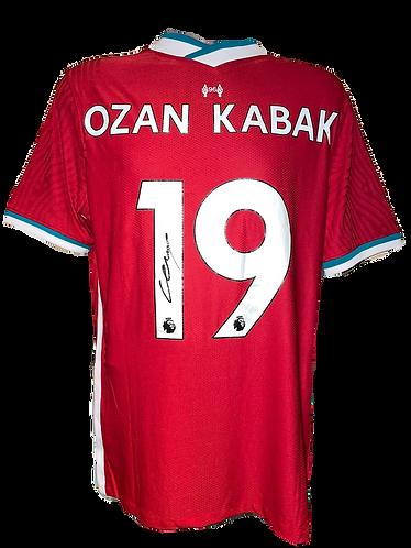 OZAN KABAK SIGNED LIVERPOOL FC 20/21 HOME SHIRT