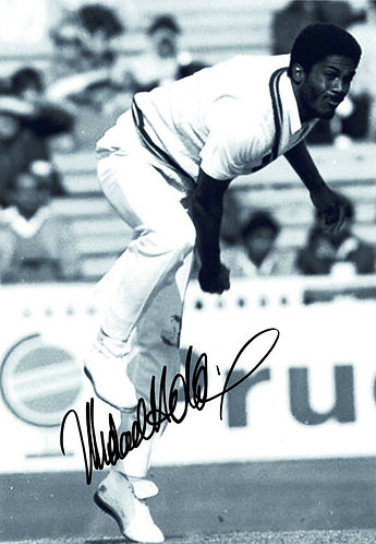MICHAEL HOLDING SIGNED WEST INDIES 12x8 PHOTOGRAPH