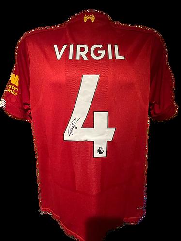 VIRGIL VAN DIJK SIGNED LIVERPOOL FC 2019/20 HOME SHIRT