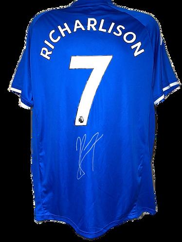 RICHARLISON SIGNED EVERTON FC 2020/21 'RICHARLISON 7' HOME SHIRT