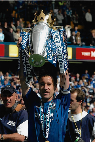 JOHN TERRY SIGNED 12X8 CHELSEA FC PHOTOGRAPH