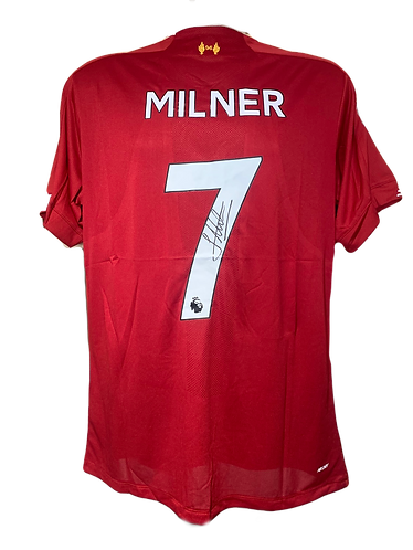 JAMES MILNER SIGNED LFC 2019/20 HOME SHIRT