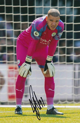 EDERSON SIGNED MANCHESTER CITY 12X8 PHOTOGRAPH