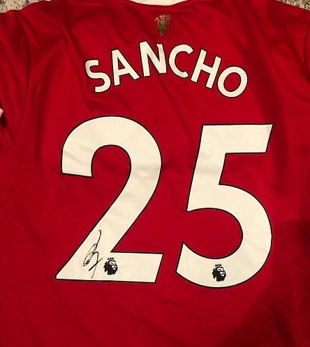 JADON SANCHO SIGNED 2021/22 MANCHESTER UTD SHIRT