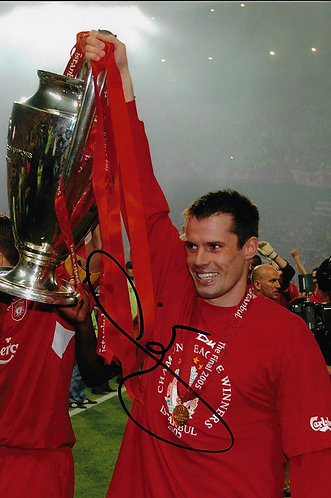 JAMIE CARRAGHER SIGNED 12x8 ISTANBUL 2005 LFC PHOTOGRAPH