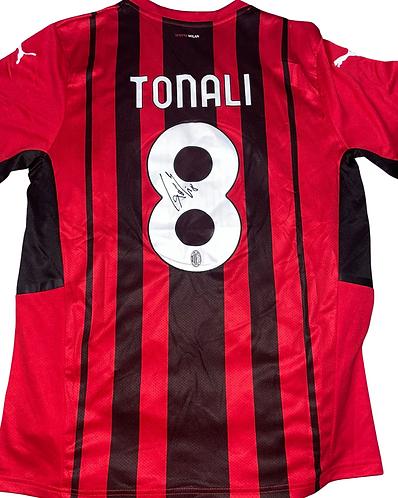 SANDRO TONALI SIGNED 2021/22 AC MILAN HOME SHIRT