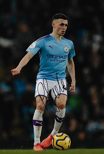 PHIL FODEN SIGNED MANCHESTER CITY 12X8 PHOTOGRAPH