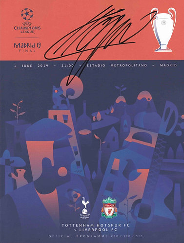 JURGEN KLOPP SIGNED 2019 CHAMPIONS LEAGUE FINAL PROGRAMME