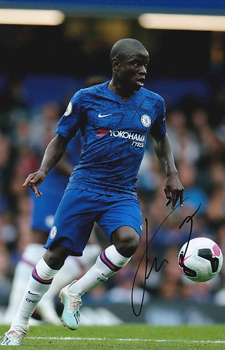 N'GOLO KANTE SIGNED 12X8 CHELSEA FC PHOTOGRAPH