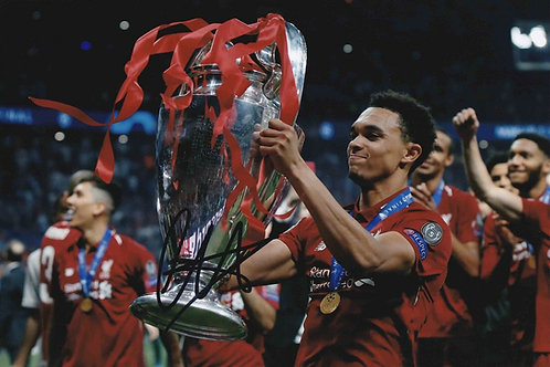 TRENT ALEXANDER ARNOLD SIGNED 12x8 LIVERPOOL FC PHOTOGRAPH