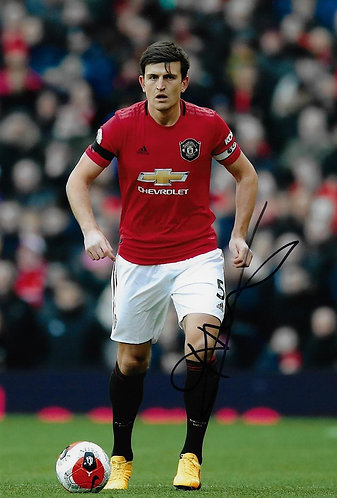 HARRY MAGUIRE SIGNED MANCHESTER UNITED 12X8 PHOTOGRAPH