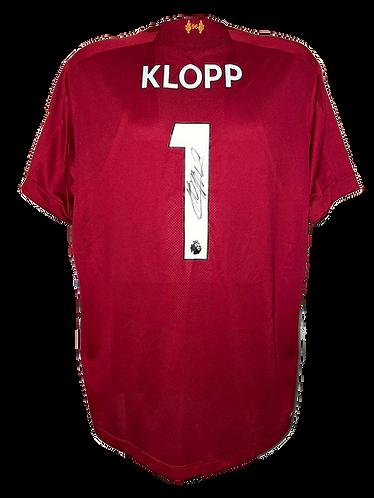 JURGEN KLOPP SIGNED 'KLOPP 1' LIVERPOOL FC HOME SHIRT