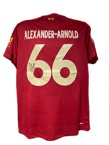 TRENT ALEXANDER ARNOLD SIGNED LFC 2019/20 GOLD PRINT HOME SHIRT