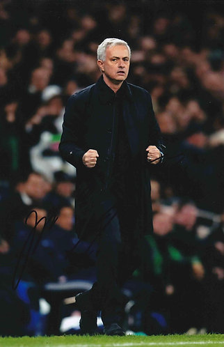 JOSE MOURINHO SIGNED SPURS 12x8 PHOTOGRAPH