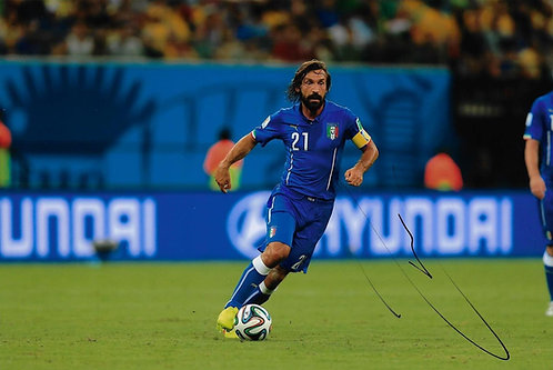 ANDREA PIRLO SIGNED ITALY 12x8 PHOTOGRAPH