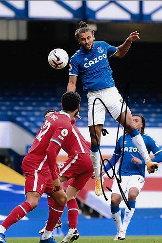 DOMINIC CALVERT LEWIN SIGNED 12x8 EVERTON FC PHOTO
