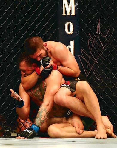 KHABIB NURMAGOMEDOV SIGNED UFC 14x11 KHABIB MCGREGOR PHOTOGRAPH