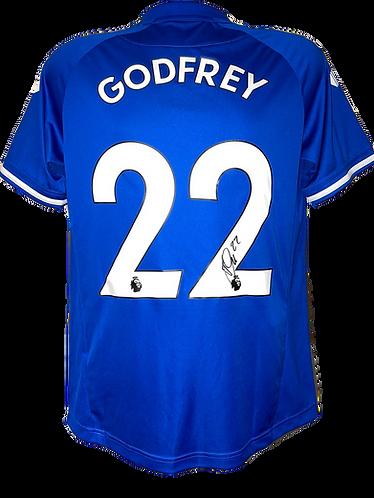 BEN GODFREY SIGNED EVERTON FC 2020/21 'GODFREY 22' HOME SHIRT