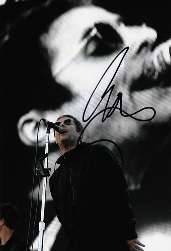 LIAM GALLAGHER SIGNED 12X8 PHOTOGRAPH