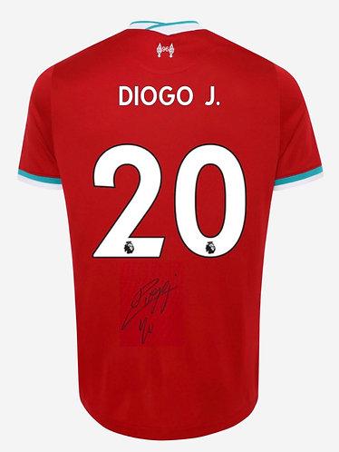 DIOGO JOTA SIGNED LIVERPOOL FC 2020/21 HOME SHIRT JOTA 20