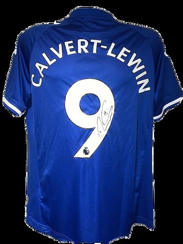 DOMINIC CALVERT LEWIN SIGNED EVERTON FC 2020/21 'CALVERT LEWIN 9' HOME SHIRT