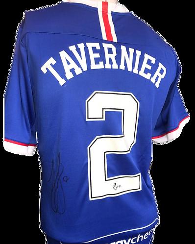 JAMES TAVERNIER SIGNED RANGERS CHAMPIONS 55 TAVERNIER 2 SHIRT