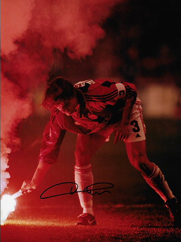 PAOLO MALDINI SIGNED AC MILAN FLARE MILAN DERBY 16x12 A3 PHOTOGRAPH