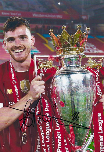 ANDREW ROBERTSON SIGNED 12x8 PREMIER LEAGUE WINNERS PHOTO