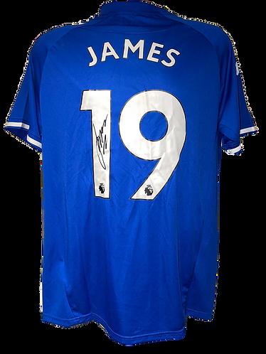 JAMES RODRIGUEZ SIGNED EVERTON FC 2020/21 'JAMES 19' HOME SHIRT