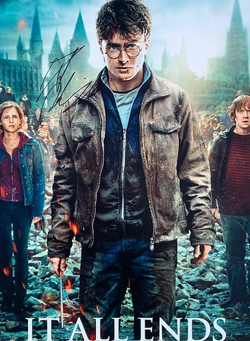 DANIEL RADCLIFFE SIGNED HARRY POTTER 16X12 PHOTOGRAPH IT ALL ENDS