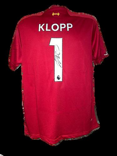 JURGEN KLOPP SIGNED LFC KLOPP 1 LFC CHAMPIONS SHIRT