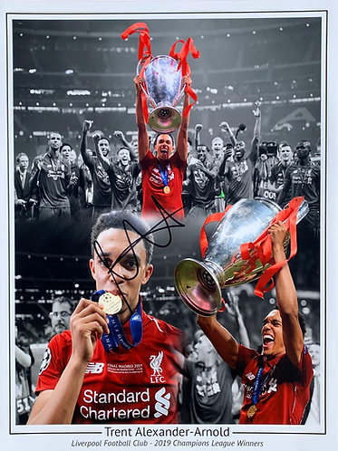 TRENT ALEXANDER ARNOLD SIGNED 16x12 LFC CHAMPIONS LEAGUE MONTAGE PHOTOGRAPH