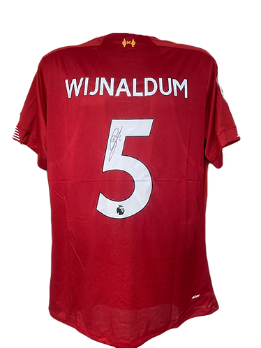 GINI WIJNALDUM SIGNED LFC 2019/20 HOME SHIRT