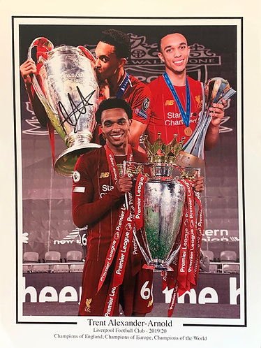 TRENT ALEXANDER ARNOLD SIGNED 16x12 CHAMPIONS OF THE WORLD PHOTO