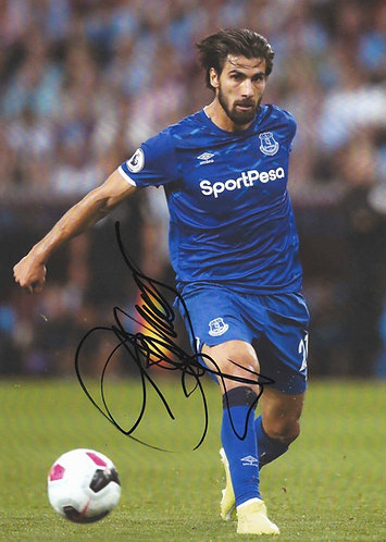 ANDRE GOMES SIGNED 12X8 EVERTON PHOTOGRAPH