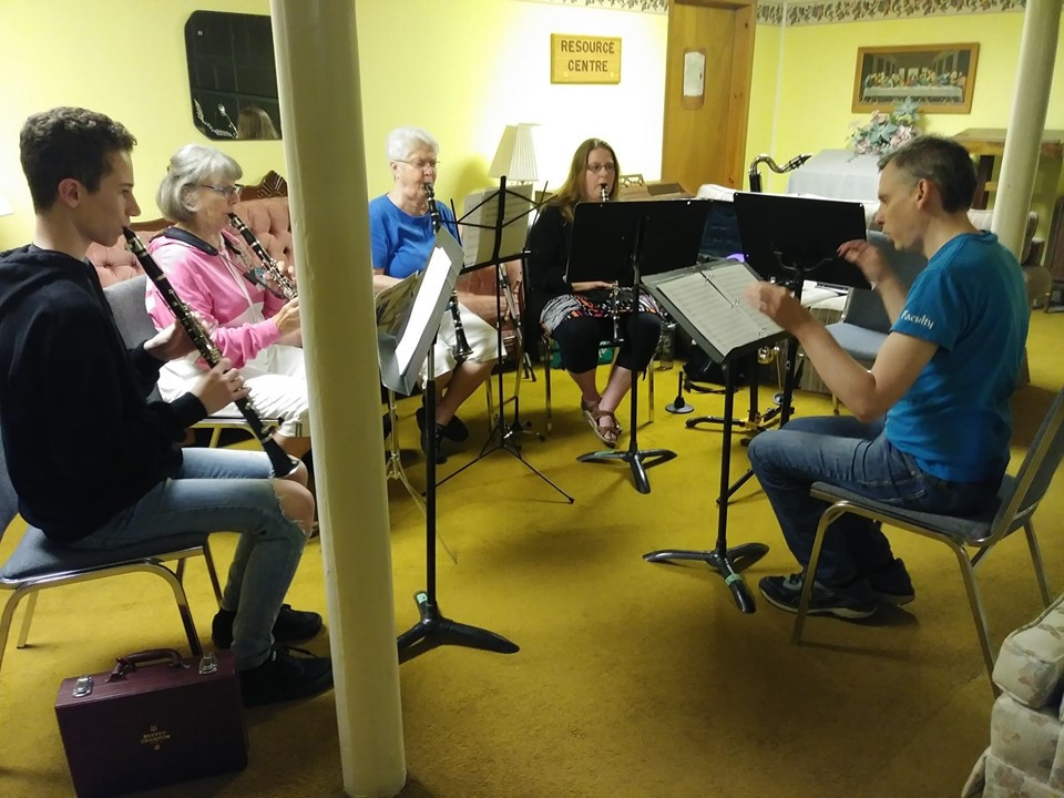 Rob Tite with the Clarinet Choir