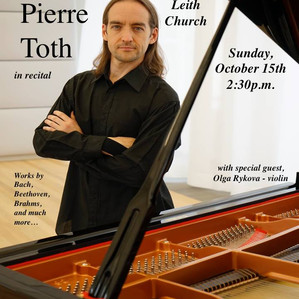Pianist Marc Toth is a Friend of mine.
