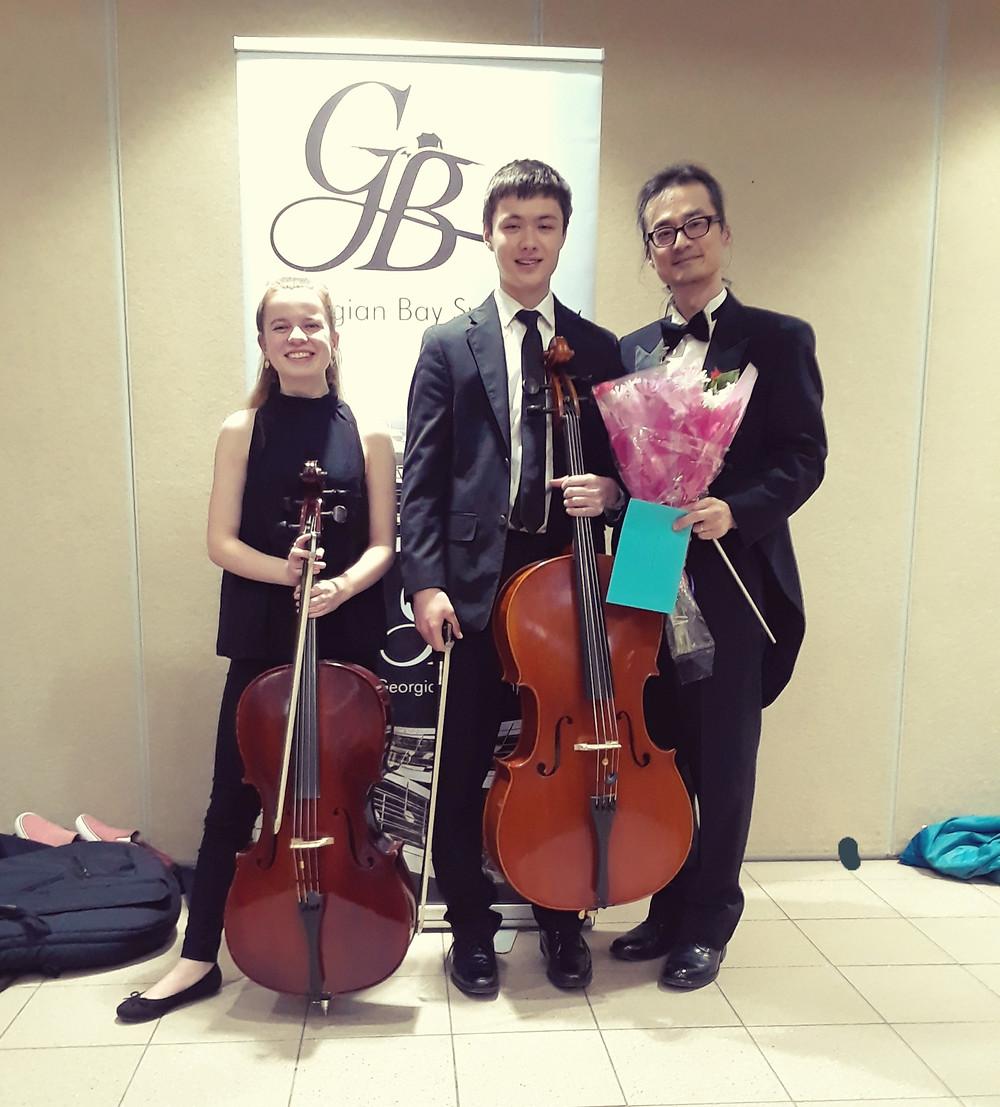 Zoe McKittrick and Jeffrey Paik with Maestro Koh