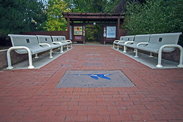 Two Ponds National Wildlife Refuge NWR - Supporter bricks and benches
