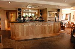 Oak Bar with Granite Top _watermarked