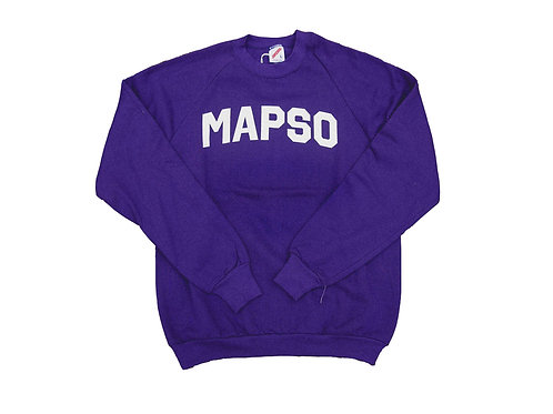 Purple Mapso Crewneck