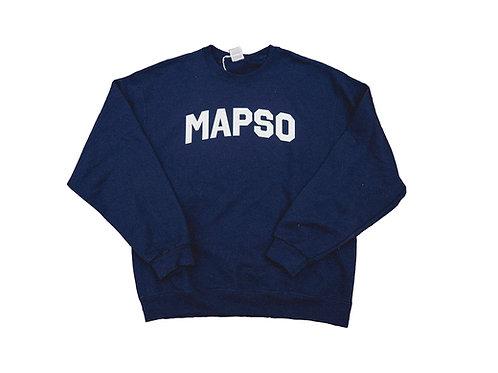 Navy Mapso Crewneck