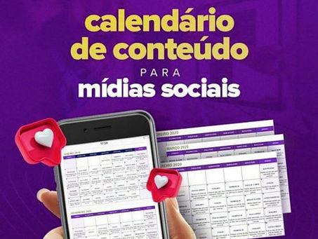 Calendário de Conteúdo para Mídias Sociais