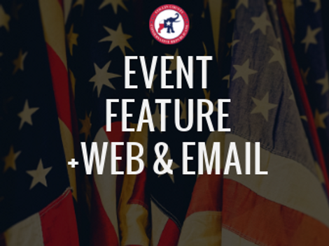 Event Feature +Website & Email Listing