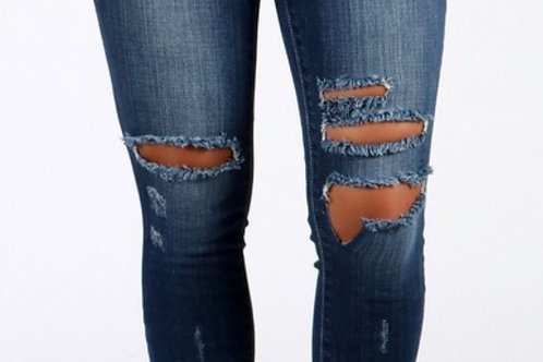Dark Denim Ripped Jeans