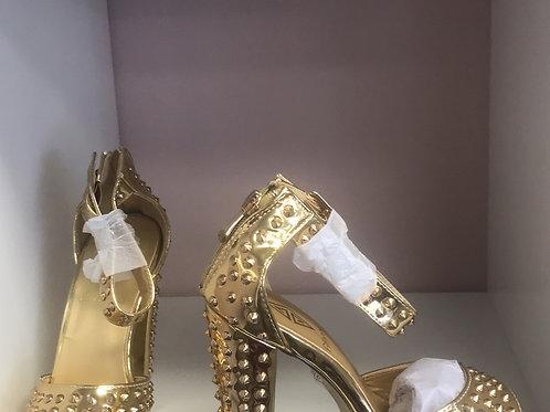 Gold Spike Heels