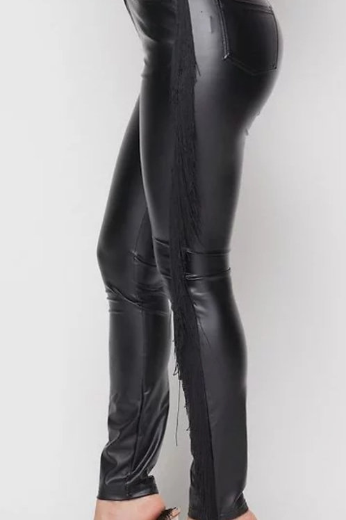 Black Tassle Pants