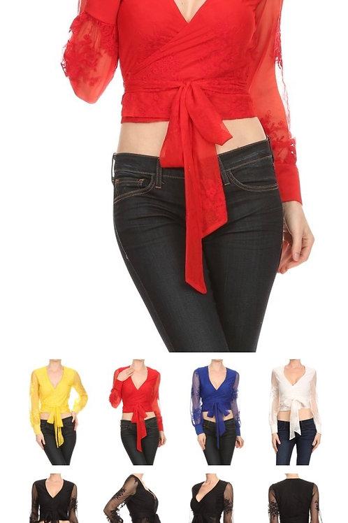 Red Wrap Shirt