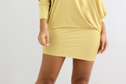 Off The Shoulder Gold Dress