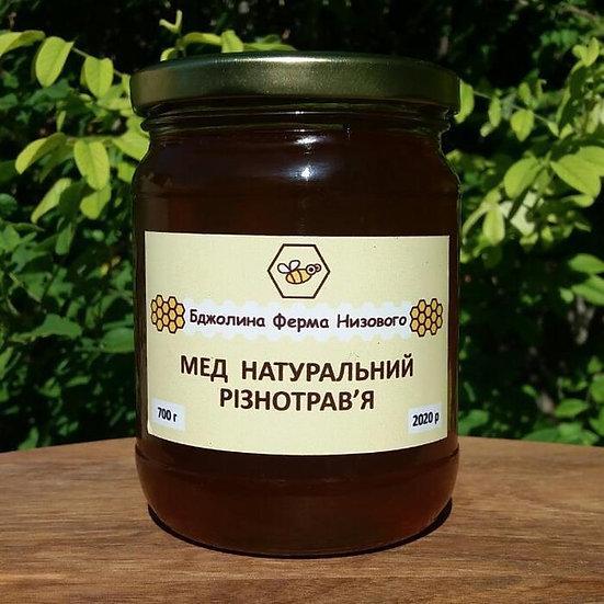 Мед натуральний різнотрав'я (темний) 700г